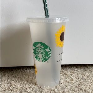 NEW Starbucks sunflower tumbler